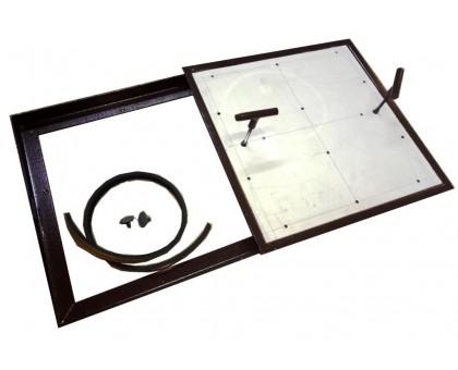 Напольный люк под плитку со съемной створкой 200х200 мм тип Плита